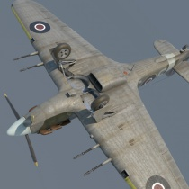 Hawker Hurricane 3D Mk.II model
