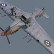 Hawker Hurricane Mk.II 3D model
