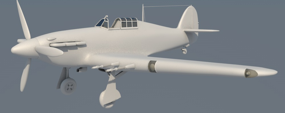Hawker Hurricane Mk.IIC 3D model